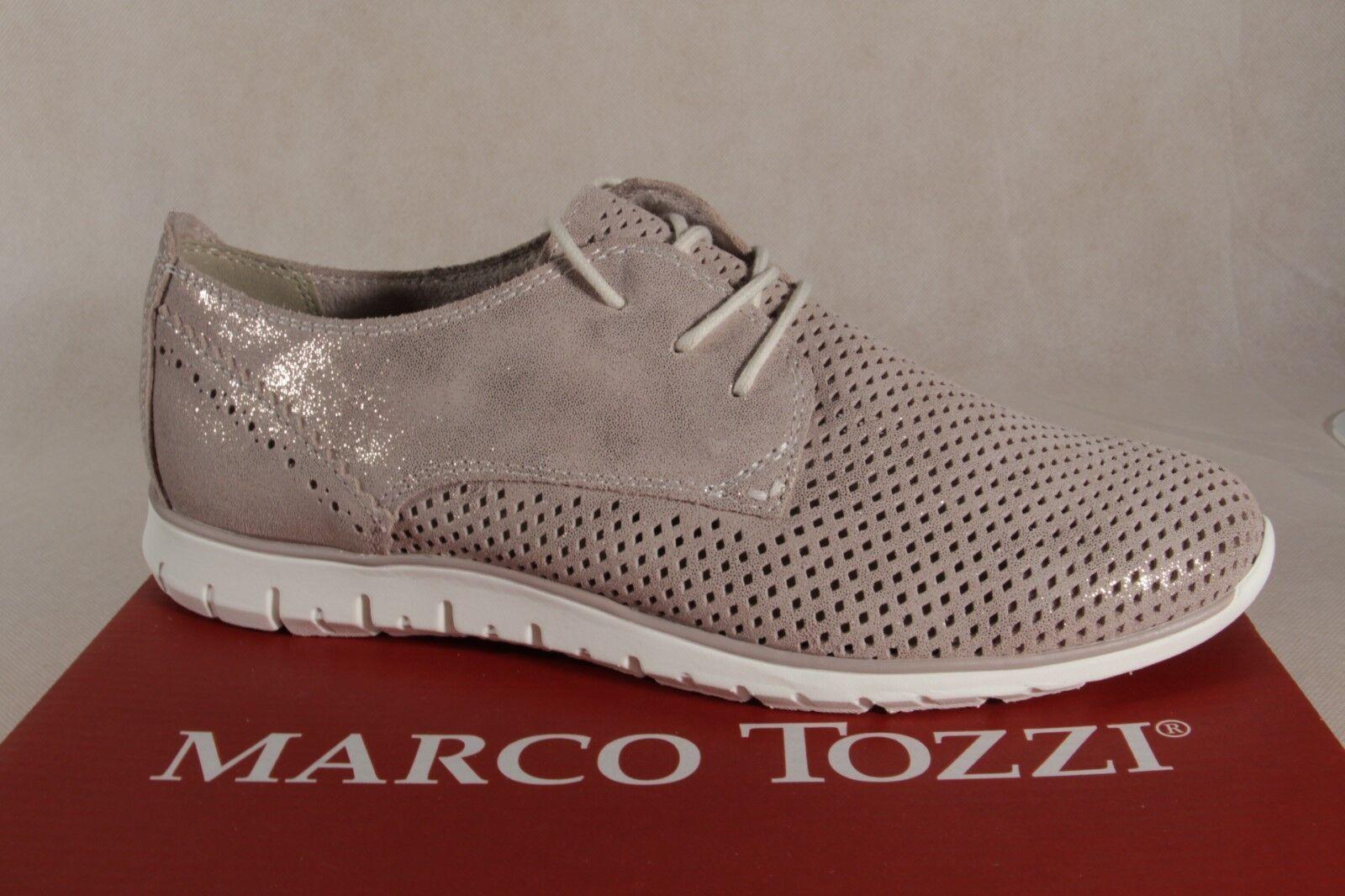 Zapatos de mujer baratos zapatos de mujer Descuento por tiempo limitado Marco Tozzi Zapatos De Cordones Zapatilla deporte bajas Beige Metálico 23728