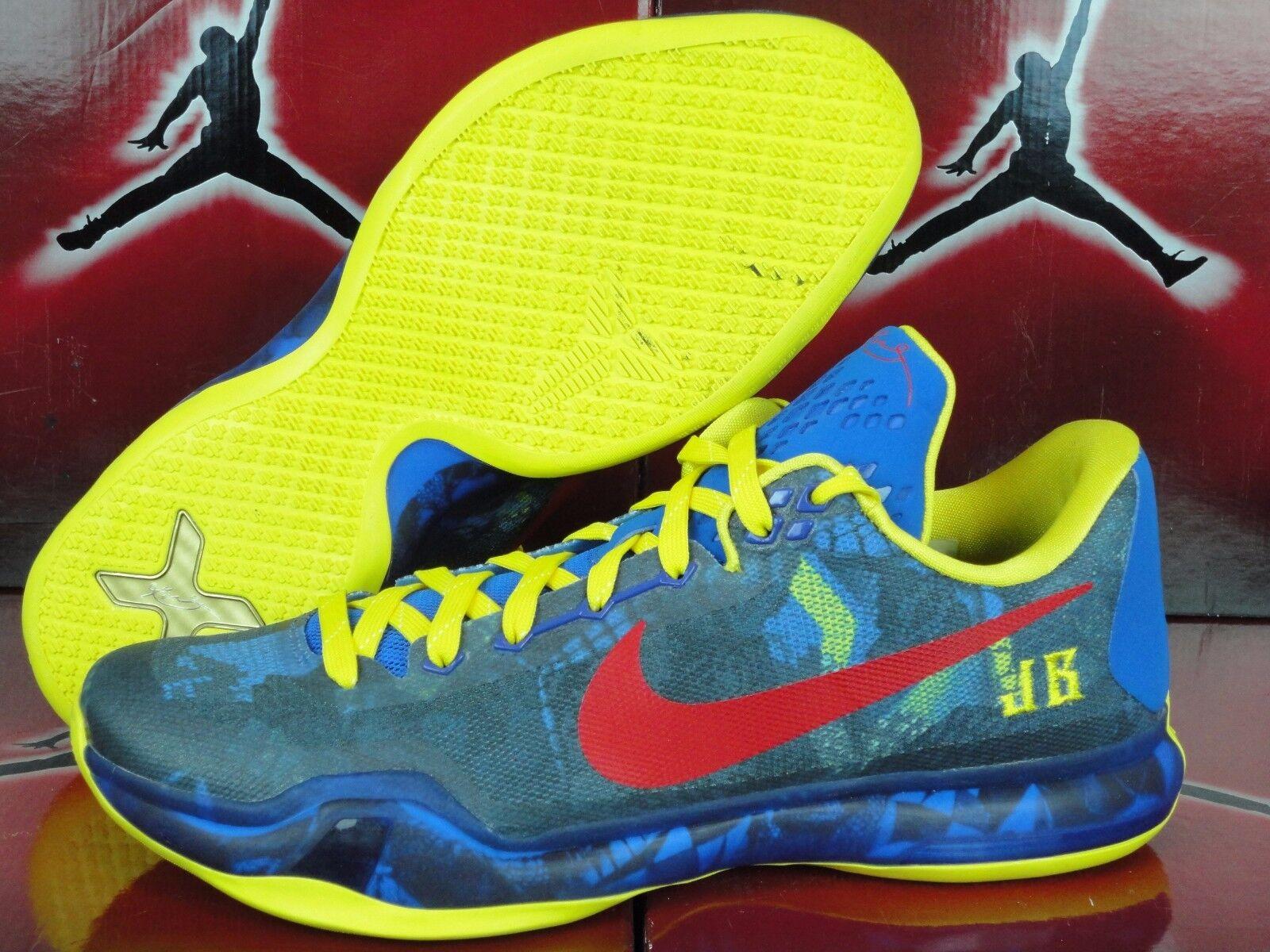 Nike id sz kobe x 10 basso sz id 11,5 - blu giallo rosso mamba momento elite 1438db