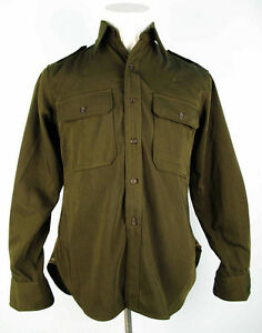 US Army Field Shirt Officer Nco Officer Olive Drab Od Gabardine Shirt - S