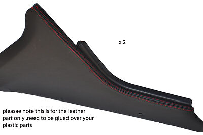 Red stitch fits Range Rover P38 94-02 2x Console Centrale Panneau en cuir couvre