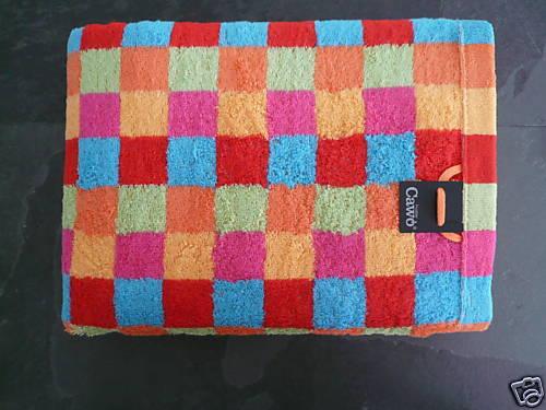 6 Handtücher CAWÖ Lifestyle Multicolor Cubes  2 Duschtücher 2 Gästehandtücher