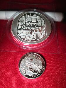 1 Oz 999 Fine Silver Bullion City Of Peace Holy Land Mint