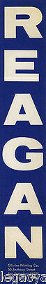 1966 California Governor Ronald REAGAN Campaign Bumper Sticker (5102)