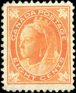 1897-Mint-H-Canada-F-Scott-72-8c-Queen-Victoria-Issue-Stamp