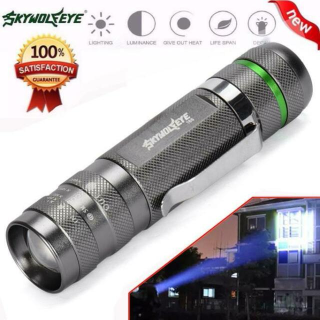 Night 3000LM Zoomable XM-L T6 LED 18650 Flashlight Super Bright Torch Light