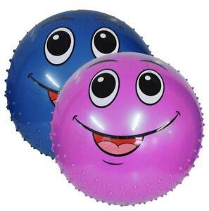 Mega-Ball-18-034-Smiley-Face-Spikey-Ball-Boy-Girls-Outdoor-Sensory-Toy-Garden-Game
