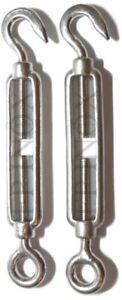 IndéPendant Tendeur ( Ridoir ) Inox 316 - A4 Oeil/crochet 140mm ( Lot De 2 ) Mode Attrayante
