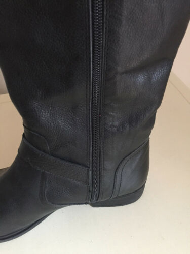 Ladies Womens Knee Size Black High Mataland Leather Boots 6 SRSqr4xd
