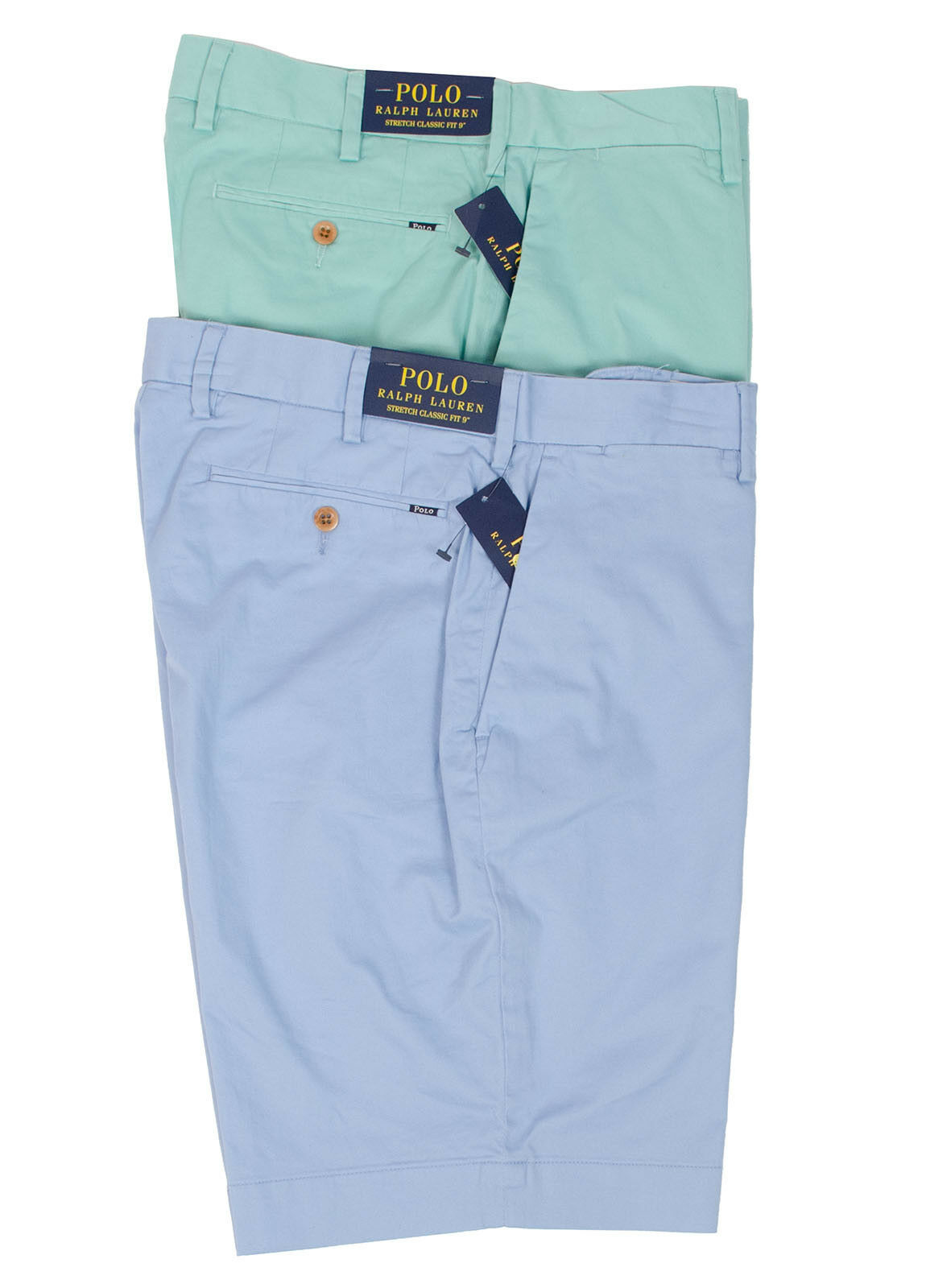 6ecfc36977712 POLO RALPH LAUREN STRETCH CLASSIC FIT 9 MEN S COTTON SHORTS OFFSHORE GREEN  blueE