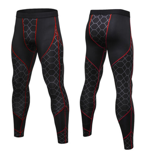 Men/'s Compression Legging Running Gym Pants Workout Fitness Cool Dry Base layer