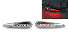 DEPO RED LED CLEAR REAR BUMPER SIDE MARKER LIGHTS FOR 2000-2003 NISSAN MAXIMA