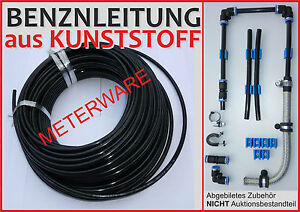 Benzinleitung-KUNSTSTOFF-8mm-BMW-E34-M5-7er-E21-E30-325-E32-E21-M5-M3-Motor