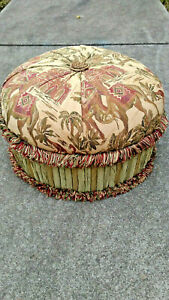 Fabulous Hand Made Round Tufted Ottoman Pouf Foot Rest Stool Made In Machost Co Dining Chair Design Ideas Machostcouk