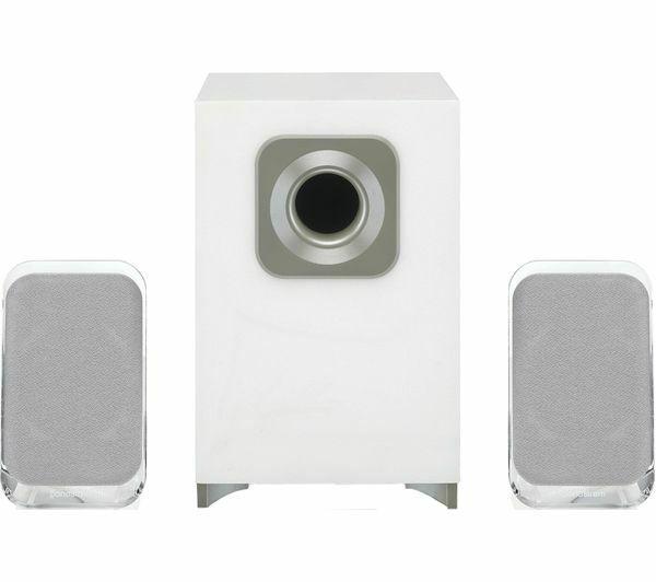 Sandstrom Ssp21bt19 2 1 Wireless Bluetooth Pc Speakers White For Sale Online Ebay