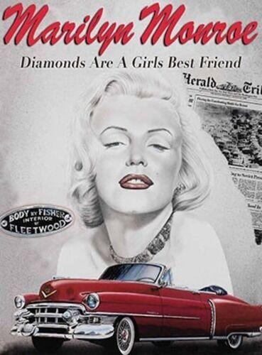 MARILYN MONROE DIAMONDS ARE A GIRLS BEST FRIEND SIGN METAL PLAQUE NOSTALGIC 454