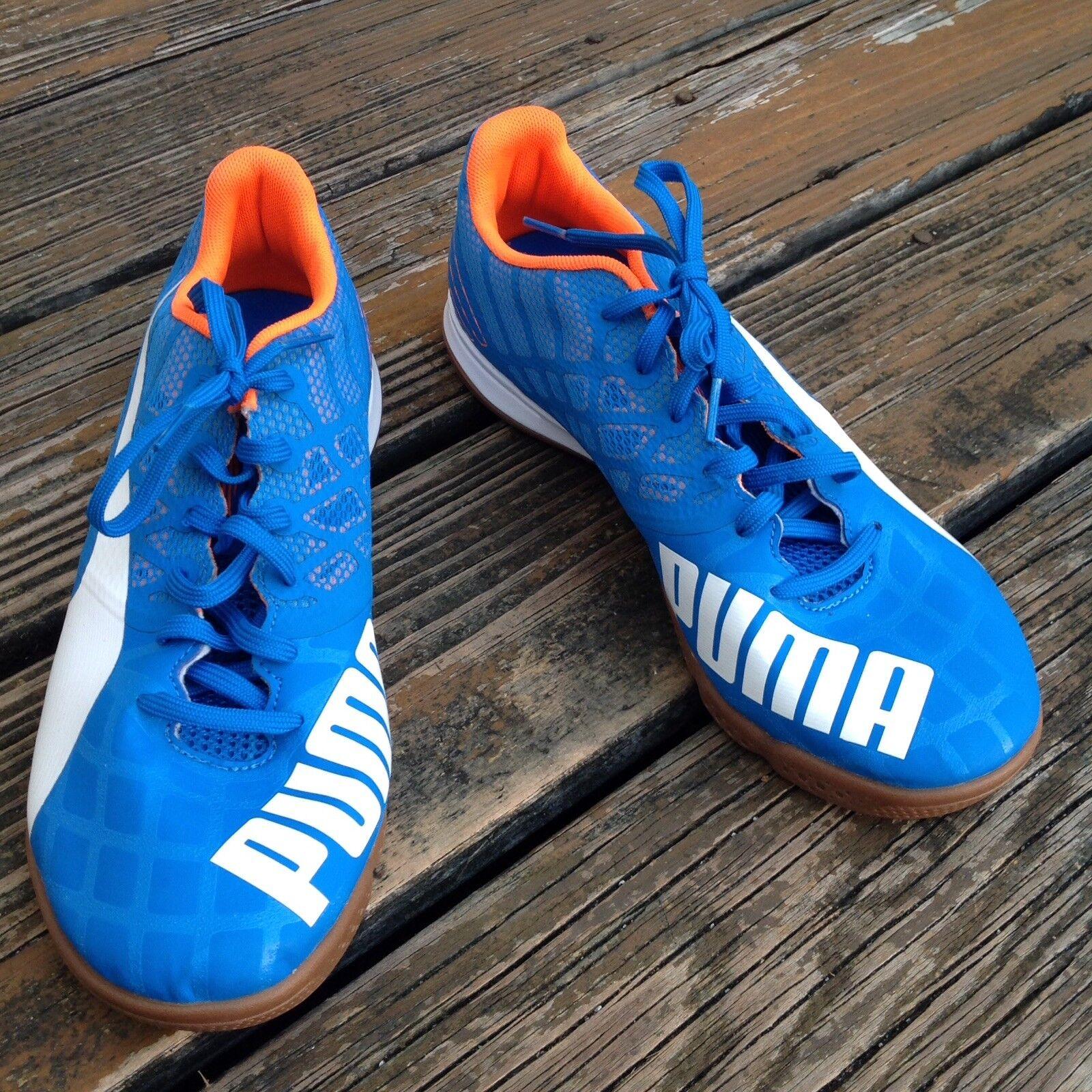 Puma Royal bluee orange White Sneakers Mens Sz 9.5 Athletic shoes