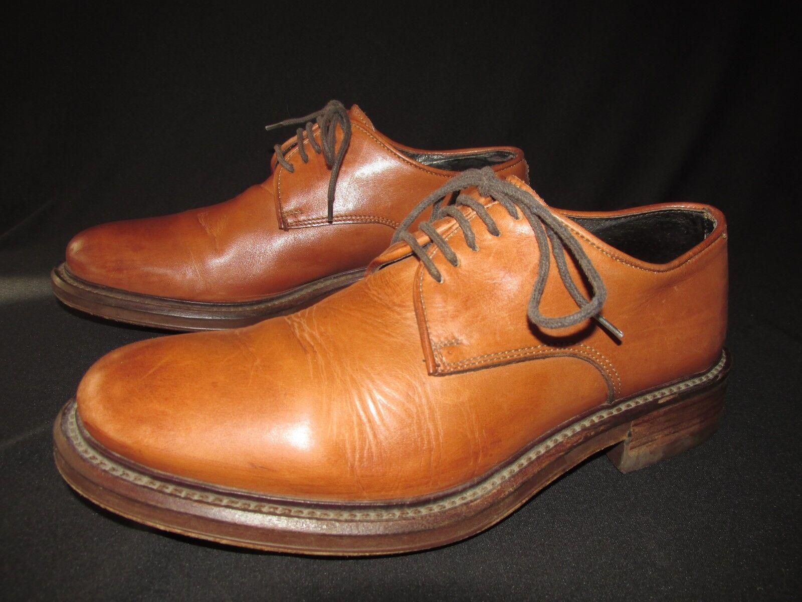 Fred de la Bretoniere Saddle Whisky Leather Oxfords shoes Men's EUR 41