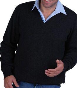 screziato uomo antracite V scollo cashmere pullover 100 Balldiri Xl a gw8AqC4Ex