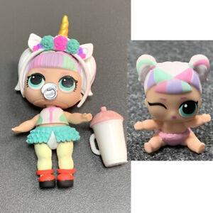 2X-LIL-amp-BIG-LOL-Surprise-Unicorn-Doll-Rare-Confetti-Pop-Ultra-Rare-Giocattoli