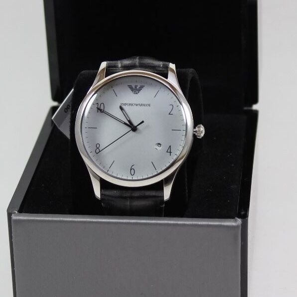 b52d6d3737bd Emporio Armani AR1880 Men s Analog Leather 41mm Stainless Steel Watch for  sale online