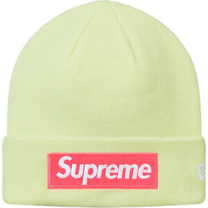 e51655dc Supreme FW17 New Era Box Logo Beanie - Pale Lime - IN HAND | eBay