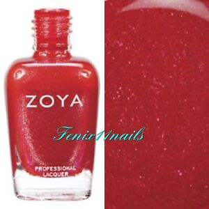 Image Is Loading Zoya Zp511 Nidhi Shimmery Metallic Fire Engine Red