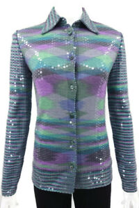 BEAUTIFUL MISSONI SEQUIN SHIRT TOP   $1495 Italy 40 US 4