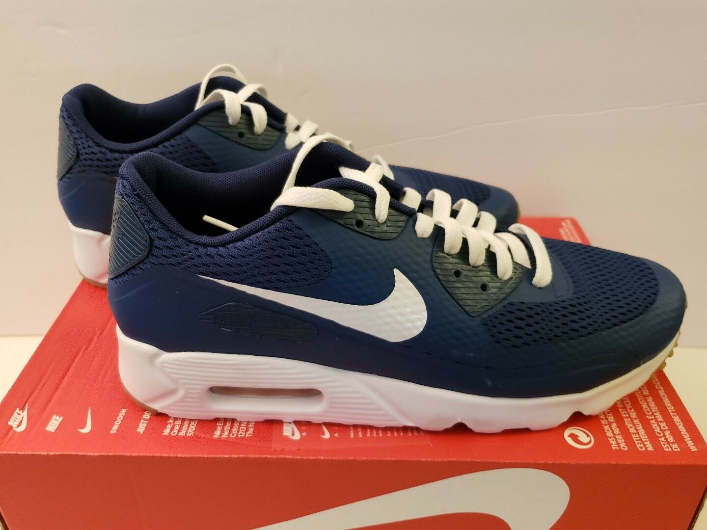072a2f8c68 Nike Air Max 90 ULTRA ESSENTIAL 9.5 Premium 819474-402 Mens shoes Size  blueee ovamuc4803-Athletic Shoes