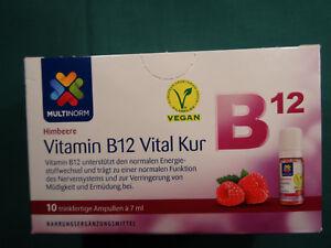 multinorm vitamin b12 vital kur himbeere vegan ebay. Black Bedroom Furniture Sets. Home Design Ideas