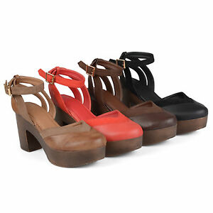 877afc706865 Brinley Co Womens Rheya Faux Leather Faux Suede Ankle Wrap Platform ...
