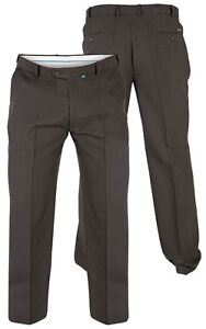 "Mens Quality Big//Tall Flexi Waist Trousers 42/""-70/"""