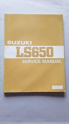 Cooperativa Suzuki Ls 650 1986-93 Manuale Officina Originale Workshop Manual
