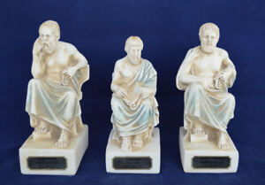 Details About Socrates Aristotle Plato Sculpture Set Artifacts