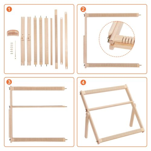 Wooden Looming SetTapestry Loom Kit Weaving Loom Kit Small With Stand