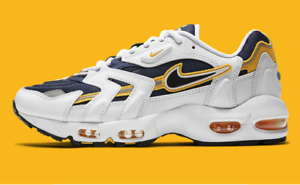 Nike Air Max 96 II Goldenrod White Black Navy CZ1921-100 Men's Shoes NEW