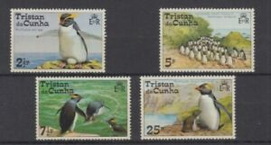 Tristan-la-Cunha-191-94-Pingouin-Oiseaux-Oiseaux-MNH