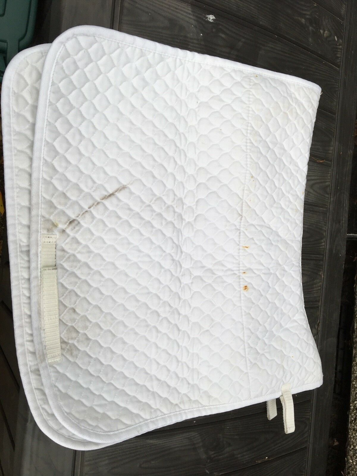 NuuMed Griffin Wool Lined Sheepskin Numnah Small Dressagd White Saddle Pad