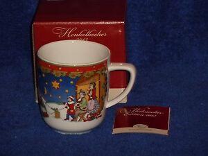Hutschenreuther-NEU-6-Weihnachtsbecher-2013-Winther-Weihnachten-OVP-Porzellan