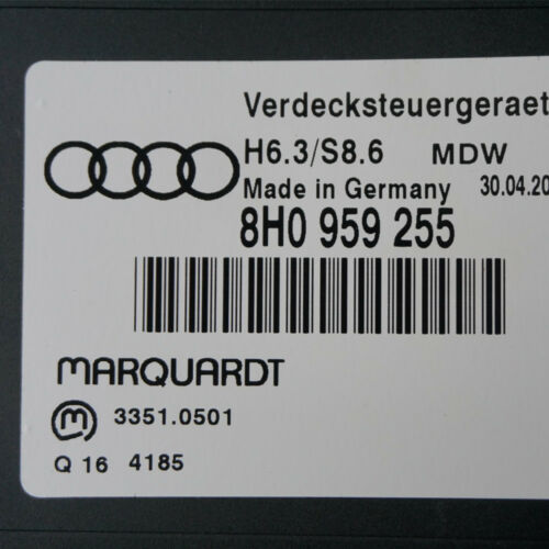 ⭐⭐⭐⭐⭐ Audi A4 B6 B7 Cabrio Verdecksteuergerät 8H0959255 Verdeck Dach