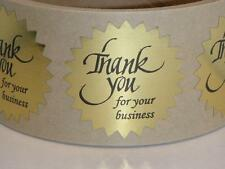 "Thank You For Your Business Sticker Label 1 1/2"" Starburst Bright Gold 250/rl"