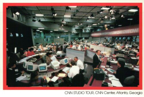 Georgia CNN Center Studio Tour Journalism TV News Network Postcard Atlanta