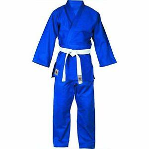 Judoanzug Blau mit weissem Gürtel | Label Bushindo | 500g/qm | 140-200cm