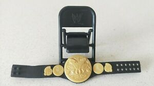 WWE-Wrestling-Tag-Team-Champions-Belt-amp-Foldable-Chair-for-Figurine-New-W-O-Tag