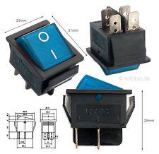Beleuchteter Wippschalter blau 12V 35A EIN-AUS Schalter Lichtschalter #MK621b