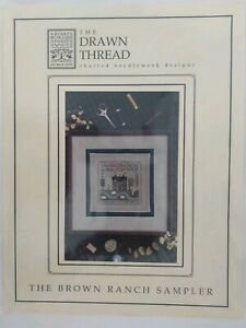 The-Drawn-Thread-Brown-Ranch-Sampler-Counted-Cross-Stitch-Needlework-Chart-Only