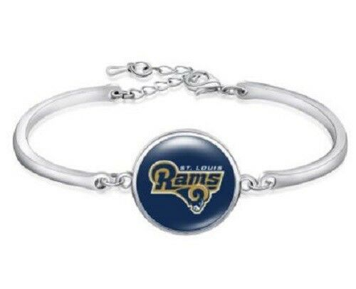 Louis Women St Charm Bracelet Adjustable Los Angeles Rams Bangle Bracelet