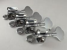 4 CHROME BASS GUITAR MACHINE HEADS Tuners for Jazz  J or Precision P Bass