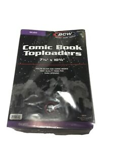 Comic-Book-Toploader-Top-Loader-Ten-10-Pack-BCW-7-1-4-X-10-3-4-Silver-Age-Size