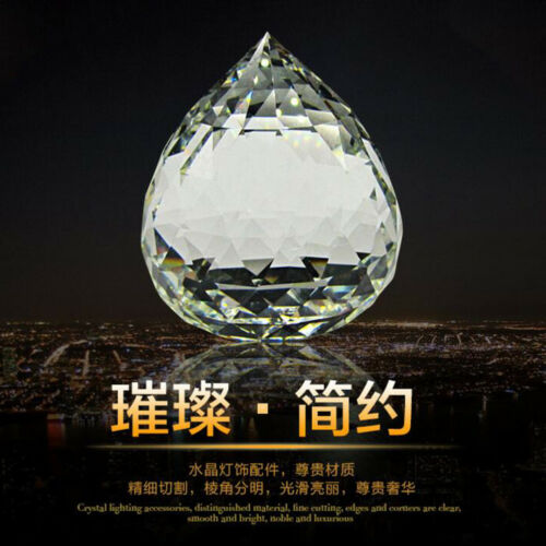 Lot Feng Shui Hanging Crystal Ball Sphere Prism Faceted Sun Catcher Clear 5 Size