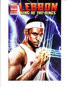 8bd98c7c6be 2012 Marvel Comics Lebron James King of the Rings  1 COMIC BOOK ESPN ...